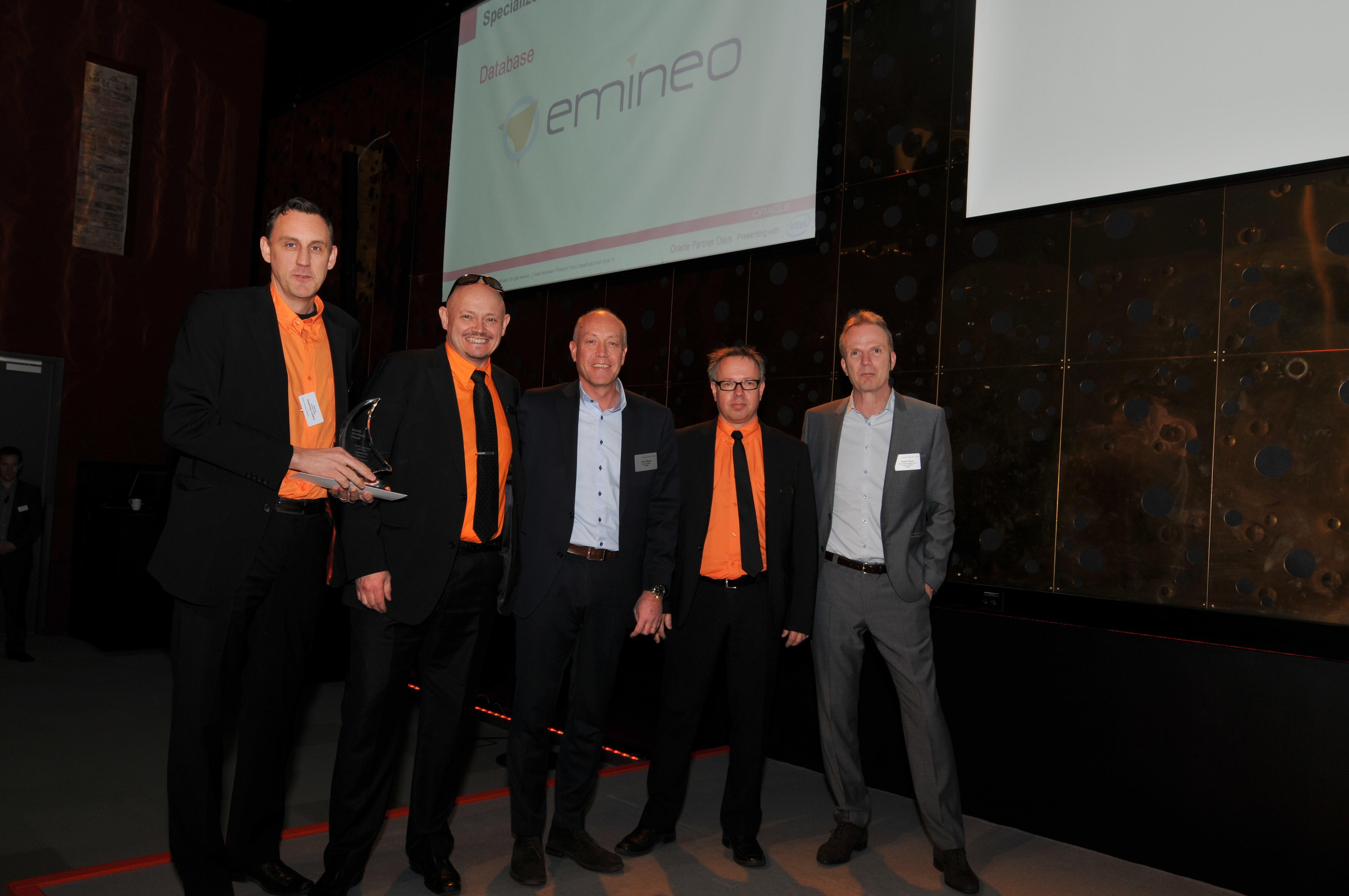 Emineo Oracle Database Partner of the year – 4:e året i rad!